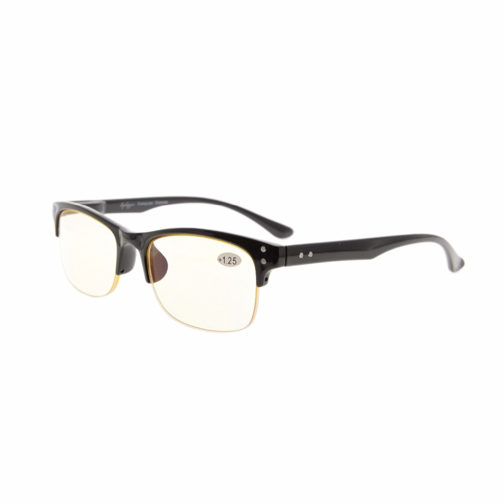 a770f63bf42 CG088 Eyekepper Plastic Frame Spring Hinges Half-rim Computer Reading  Glasses Readers Eyeglasses