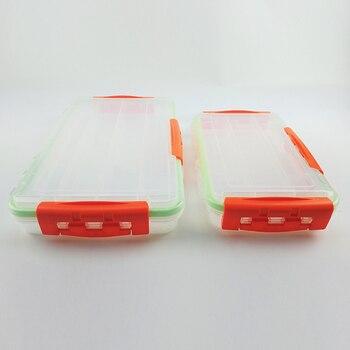 KESAIKE Klar Wasserdicht Angelgerät Box Fisch Köder Haken Tackle Aufbewahrungsbox Halter Zubehör Werkzeuge Fall