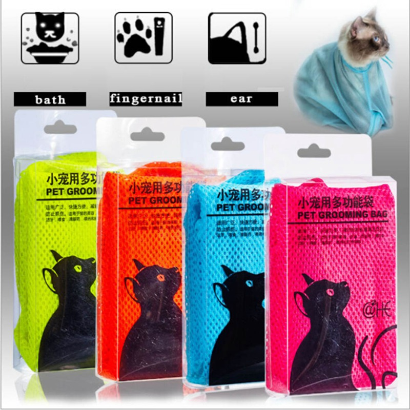 Cat Grooming Bag Cat Washing Bath Bag Shower Nail Cutting Medicine Cat Pet Washing