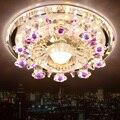 Светодиодный потолочный светильник Modren Circle с кристаллами  домашний декор диаметром 180 мм  потолочный светильник