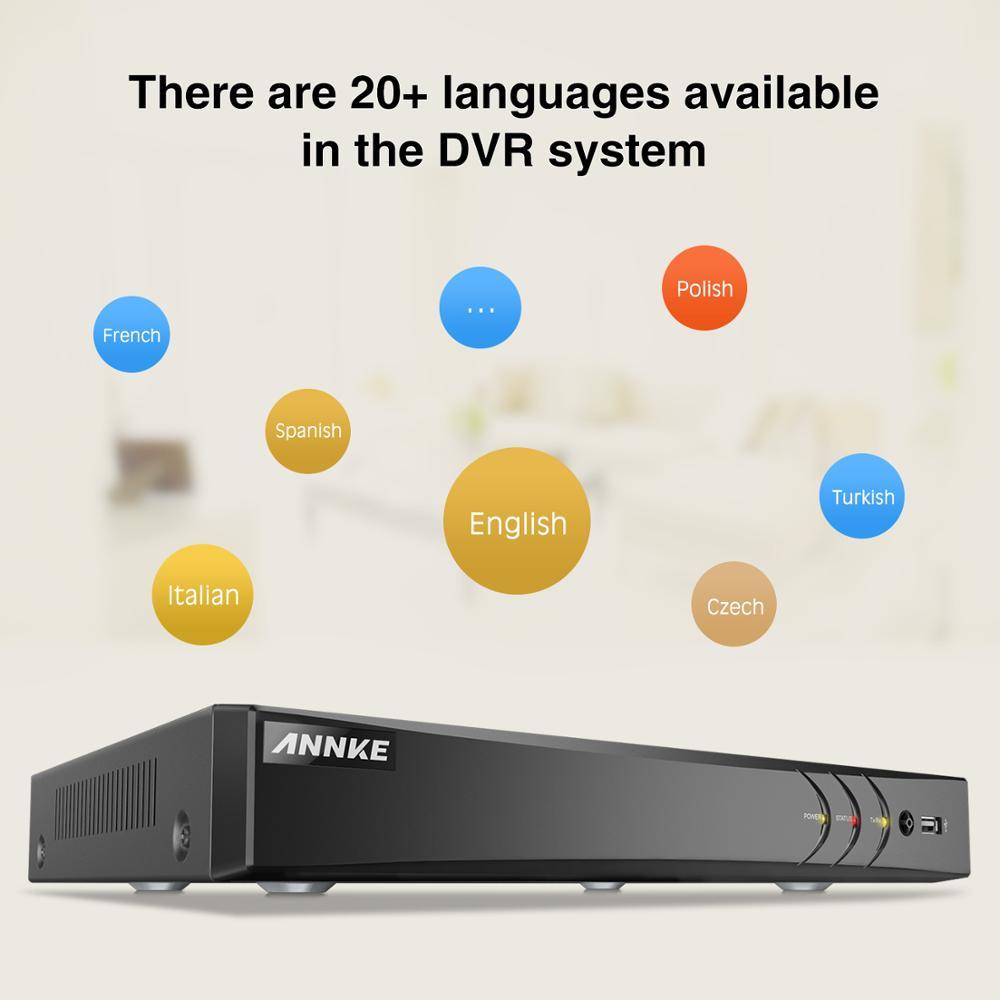 ANNKE 16CH HD 3MP système de vidéosurveillance 5IN1 DVR 16 pièces TVI caméra dôme de sécurité extérieure étanche PIR détection mouvement Kit vidéo maison-in Système de surveillance from Sécurité et Protection    3