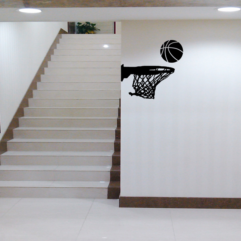 Creative Basketball Hoop Wall Sticker Living Room For Home Decoration Art Decals PVC Removable Sports Wall Edge Stickers