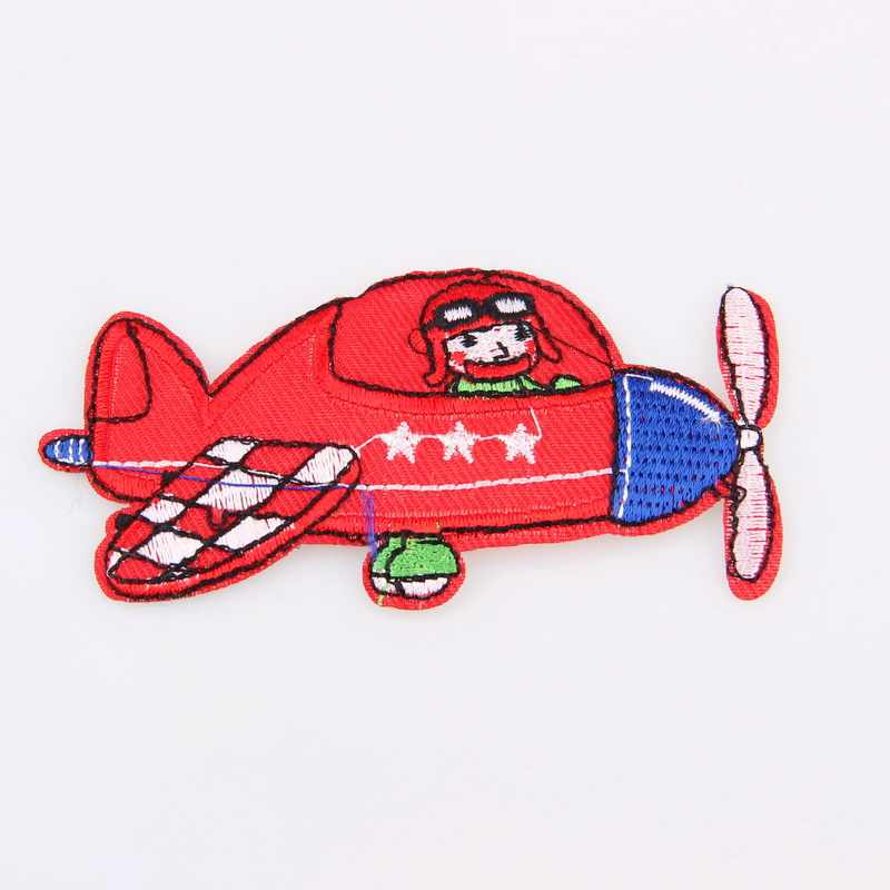 Lucu Kartun Mobil Pesawat Diy Bordir Patch Pakaian Anak Pakaian Bros Bordiran Bordir Aksesoris Truk Traktor Grosir