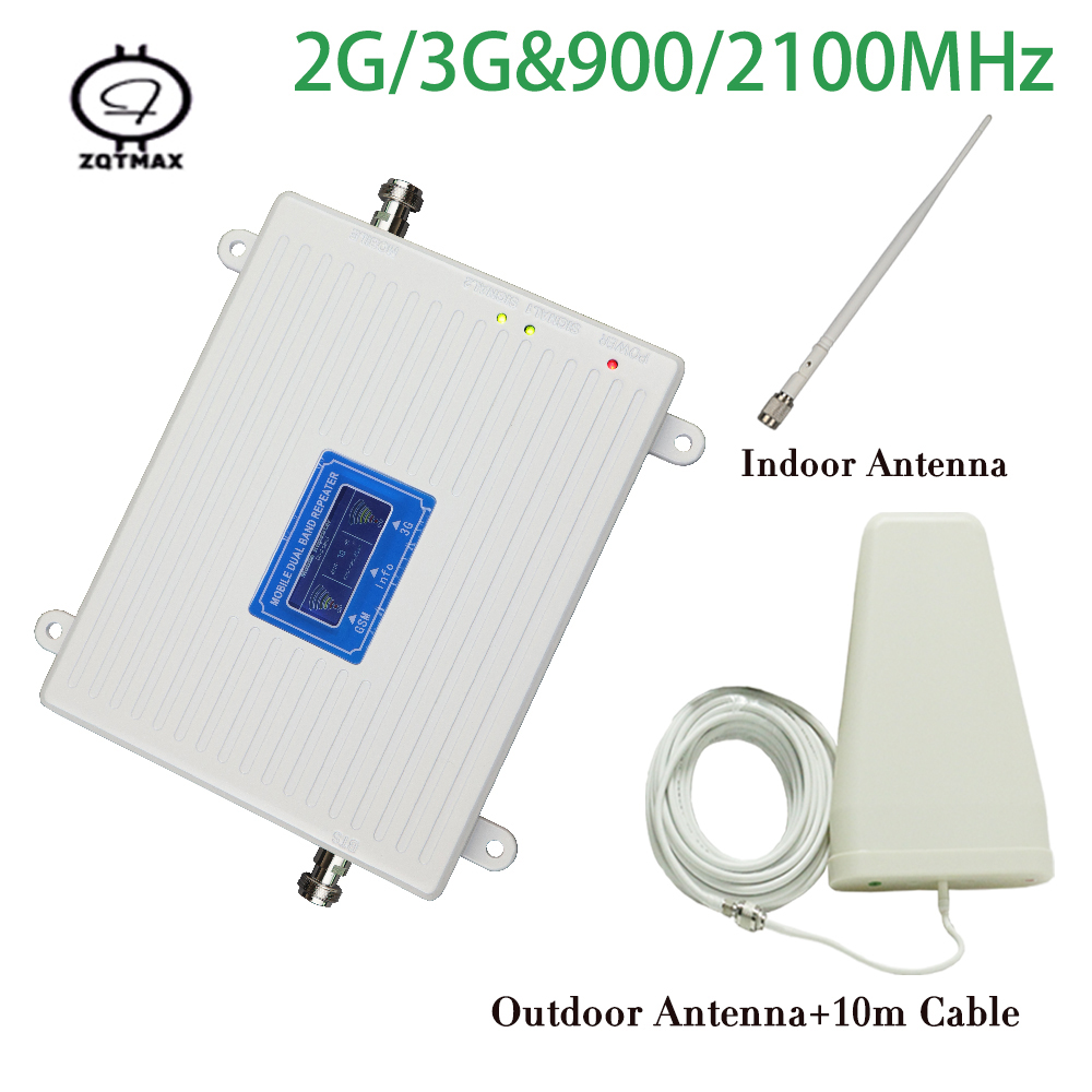 2g 3G Repeater 900 2100 MHz Dual Band Signal Repeater GSM 3g Mobile Phone Repeater WCDMA 3G Booster 900mhz GSM Signal Amplifier