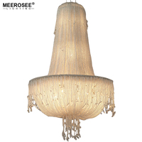Meerosee Long Size Crystal Light Fixture French Empire Chandelier Bedroom Aisle Porch Lamp Hallway Crystal Lustre Lighting