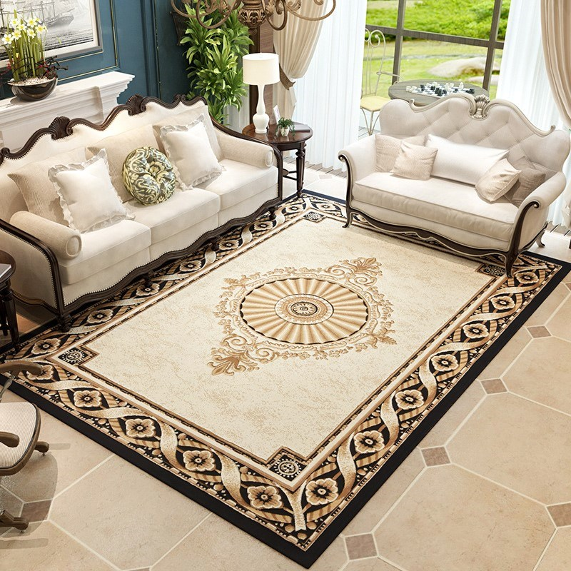US $399.19 45% OFF|Elegant Villa Carpet Luxurious Rug Home Living Room And  Bedroom Floor Mat Polypropylene Bedroom Carpet Sofa Coffee Table Rugs-in ...