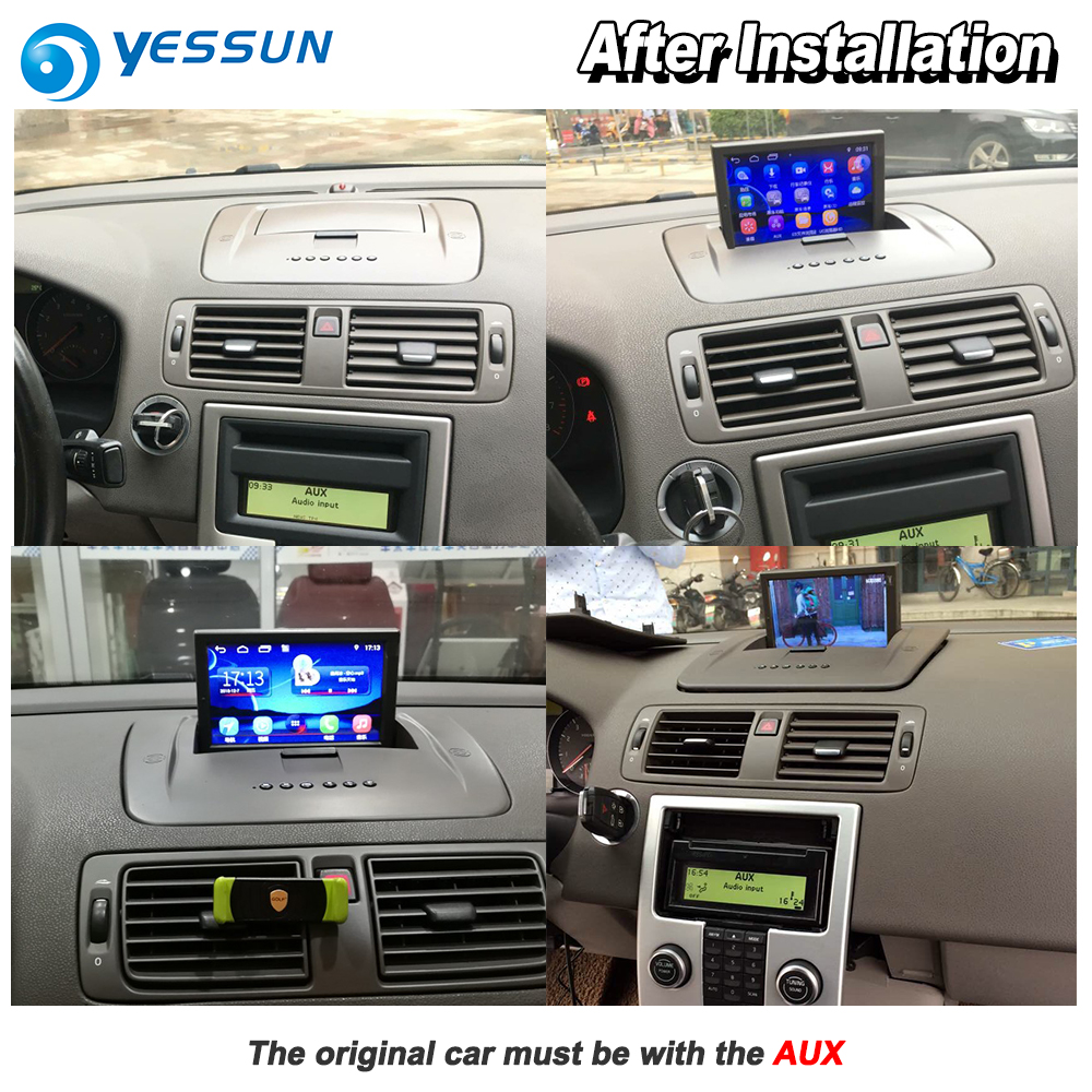 US $468 35 15% OFF|YESSUN For Volvo S40 2004~2012 Car Android Carplay GPS  Navi maps Navigation Player Radio Stereo Multimedia HD Screen No CD DVD-in