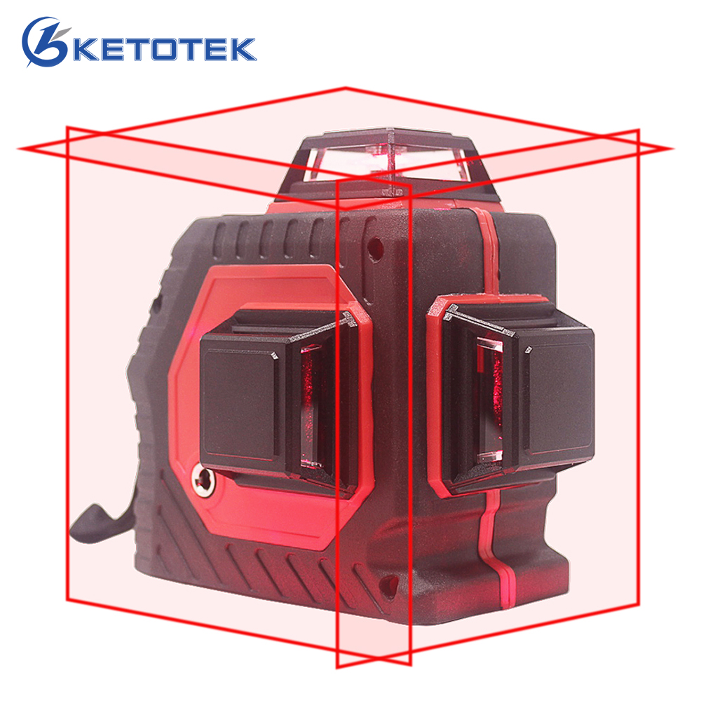 12 Line Laser Level 3D Self-Leveling Tools Cross Line Laser 360 Degree Horizontal Vertical Measure Red Indoor Outdoor Tripod Box цена