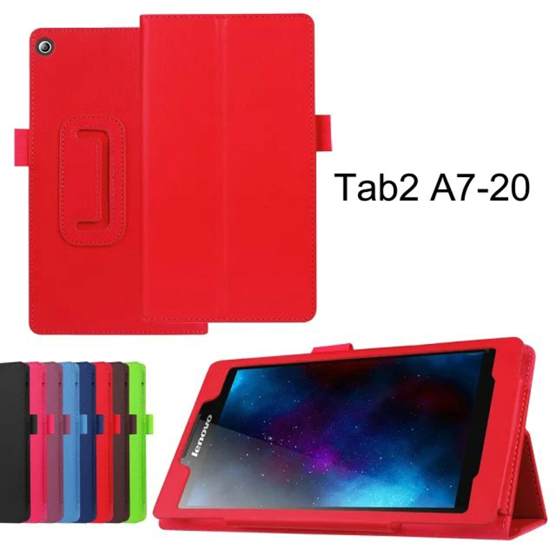 2-Folder Luxury Folio Stand Holder Funda protectora de piel cubierta - Accesorios para tablets - foto 5