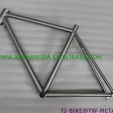 Настраиваемая титановая рама для шоссейного велосипеда, китайские титановые 700C велосипедные рамы, горячая Распродажа титановая рама для шоссейных стеллажей