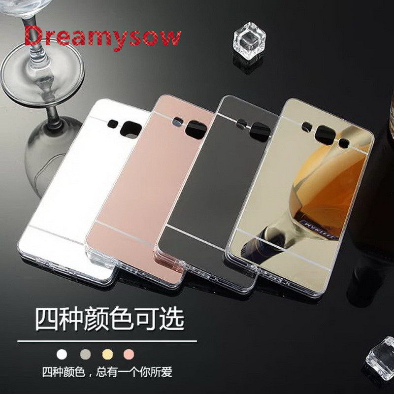 Mirror Back Cover Case Soft TPU Silicone Frame For Samsung Galaxy 2016 J1 J120 J5 J510 J7 J710 J3 J310 Protect Back Cover Case