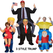 Donald Trump Mask Adult Cosplay Clothes Ride On Me Mascot Costumes Carry Back Novelty Toys Halloween Party Dress Up Fun Disfraz 2019 newest trump pants party unicorn animal dress up ride on me mascot costumes carry back novelty toys party cosplay clothes