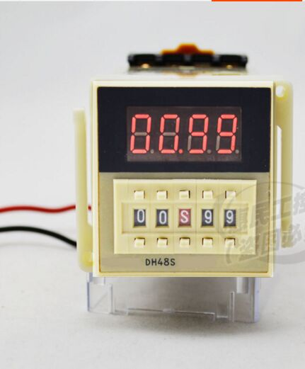 Timer Relay 220V DH48S-2Z Programmable dual control time Delay JSS48 / DH48S-2Z Relay 1pcs 24vdc new programmable dh48s 2z time delay relay counter