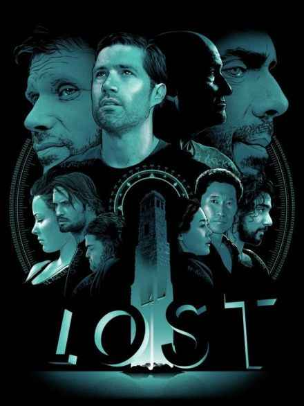 LOST The Final Season TV series Retro Vintage Poster Canvas