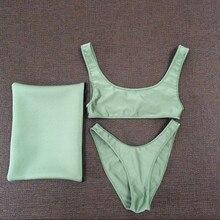 New Style SCOOP CROP + HIGH CUT BIKINI Bikini Set Swimsuit Swimwear Bikinis