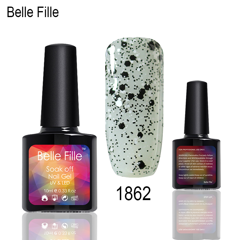 68a80299f7 US $1.75 20% OFF|Belle Fille Wine Red Nail Gel Bring Glitter UV Soak Off  Long Lasting Bring Shing Nail Gel Polish Transparent Glitter Nail Art-in  Nail ...