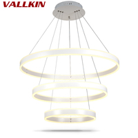 Indoor Chandeliers White Pendant Lamp Modern LED Ring Chandelier Painting Aluminum Shell Interior Decoration Home Lamp Fixture's