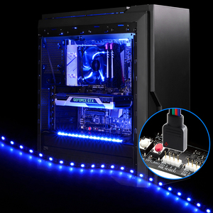 12V RGB 4pin LED Headers LED Strip Light ADD_Header 5050 SMD PC Case Decor Backlight,RGB Motherboard Control Panel Change Colors(China)