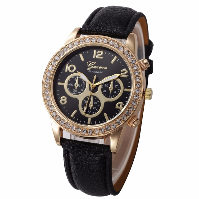 Us 175 0 Women Men Geneva Watch Fashion Leather Og Stainless Steel Quartz Wrist Bracelet Watches 100pcs Lot In S From