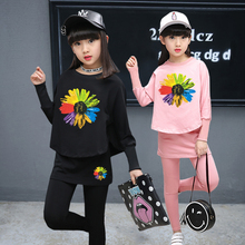 JENYA 2017 spring&autumn girls children clothing set baby cotton fashion coat kids batwing sleeve T-shirt+pants skirt 2 pcs