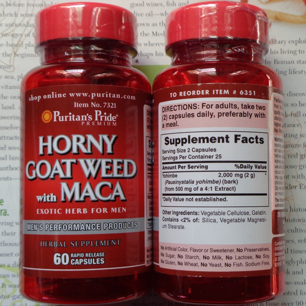 Free shipping Horny Goat Weed with MACA 60 pcs 1