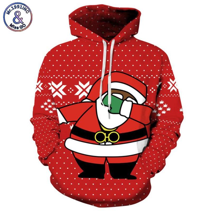 Mr.1991INC 2018 new hot Santas shy pattern 3d Sweatshirts Men/Women hoodie sweatshirt Casual Hooded Pullovers Men Hoodies M232