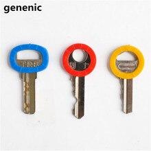 8pcs/lot Hollow Multi Color Rubber Soft Key Locks Keys Cap Key Covers Topper Key ring