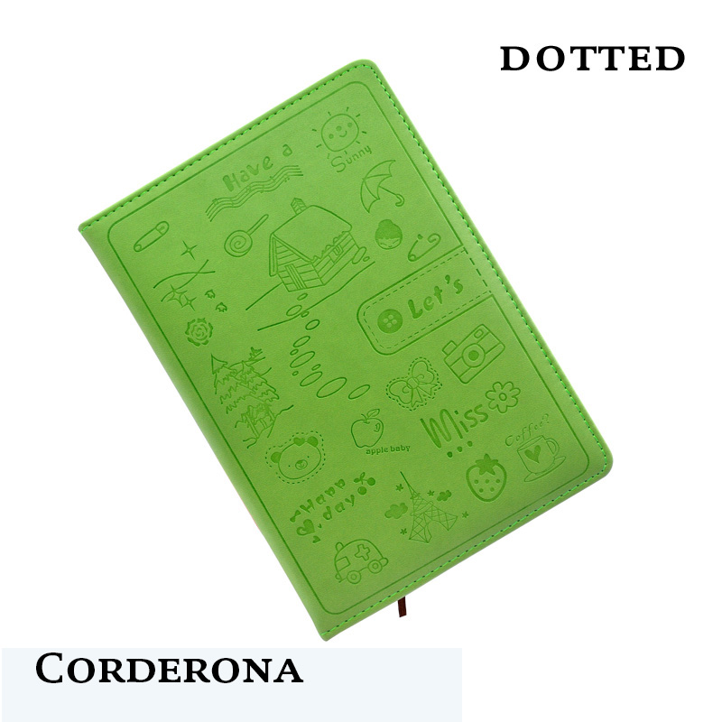 Hard Cover Dot Grid Candy Color A5 PU Bullet Notebook Elastic Band Creative Dotted Journal BujoHard Cover Dot Grid Candy Color A5 PU Bullet Notebook Elastic Band Creative Dotted Journal Bujo