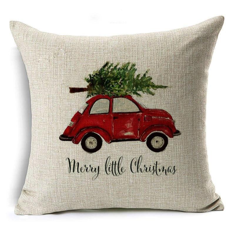 Monily Cartoon Pillow Cover Kids Christmas Gift Deer Car Mushroom Cushion Cover Decorative Throw Pillow Case Sofa Home Decor
