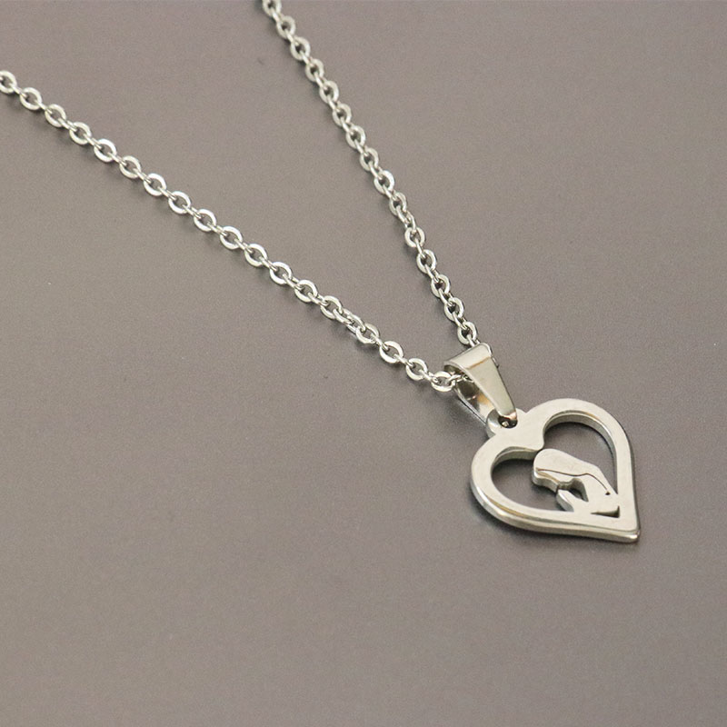 Charitable Everfast 1pc Saint Madonna Maria Heart Pendant Stainless Steel Necklace Chokers Statement For Blessed Women Girls Luck Gift