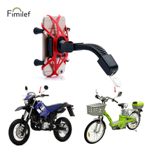 цены Motorcycle Phone Holder Rearview Mirror Mobile Phone Support For iPhone 8 7 Plus S8 GPS Universal Moto bike Mount Bracket Stand