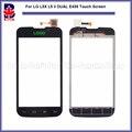 """Alta Qualidade 4.0 """"para lg l5x l5 ii dual e455 touch screen digitador lente de vidro do painel sensor black white frete grátis + rastreamento"""