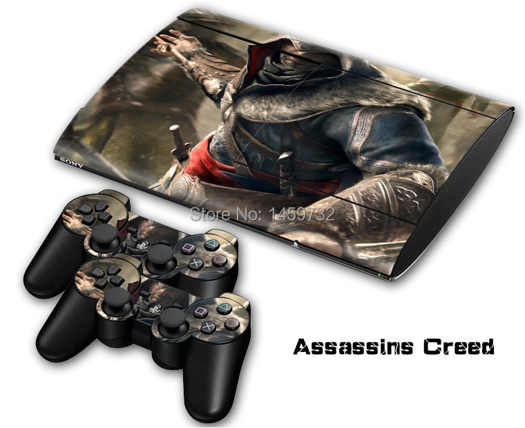 Cool Style Vinyl Decals for PS3 SLIM 4000 Console+2 free Controllers Skin/sticker-60 kinds of style for you to choose