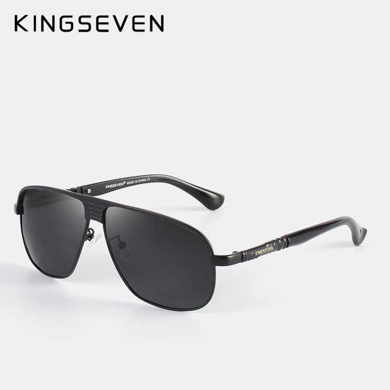 KINGSEVEN ใหม่ Retro Unisex อลูมิเนียมแมกนีเซียมบุรุษแว่นตา Polarized Vintage แว่นตากันแดดสำหรับชาย N706
