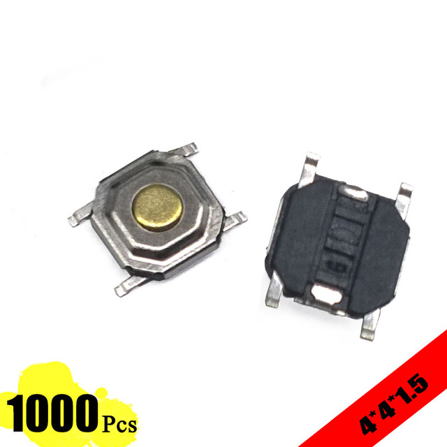 1000 pcs lot 5 2*5 2*1 5mm 4 pin metal 12v micro smt push button1000 pcs lot 5 2*5 2*1 5mm 4 pin metal 12v micro smt push button switch high quality tact touch switch tactile