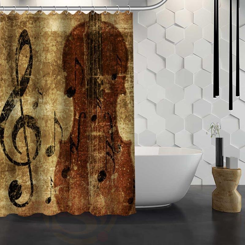 CHARMHOME Hot Sale Custom Classic Music Symbols Shower Curtain Waterproof  Fabric Shower Curtain For Bathroom(