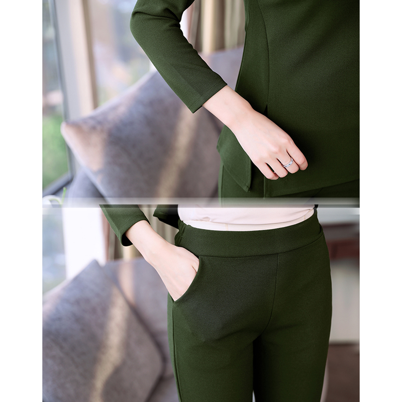Green women tracksuits 2 piece sets outfits co ord plus size loose pants suits and top 2019 winter elegant 3 piece suit clothes in Women 39 s Sets from Women 39 s Clothing