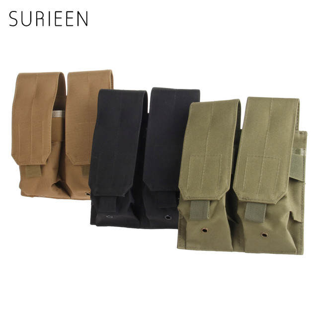 surieen nylon hunting military molle pal double 5 56 223 magazine