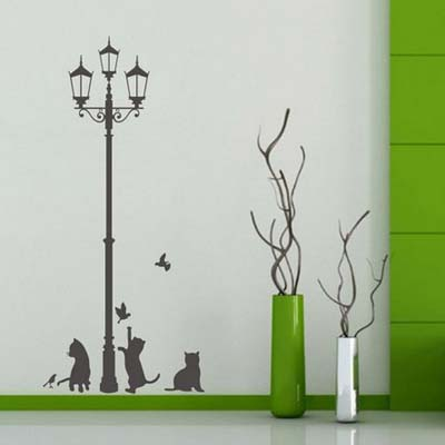 Lamp Cats and Birds Lovely animals DIY wall stickers home ...