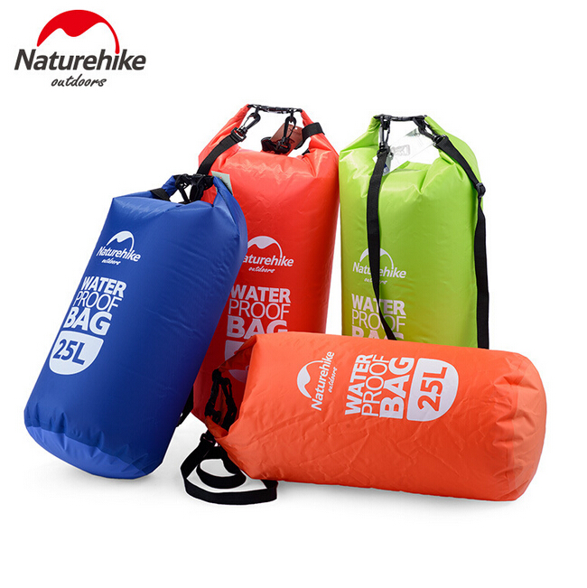 Naturehike Outdoor 15L 25L Waterproof Bag Swimming Dry Sack Storage Dry Bag Rafting Compression Bag Travel Kit Equipment