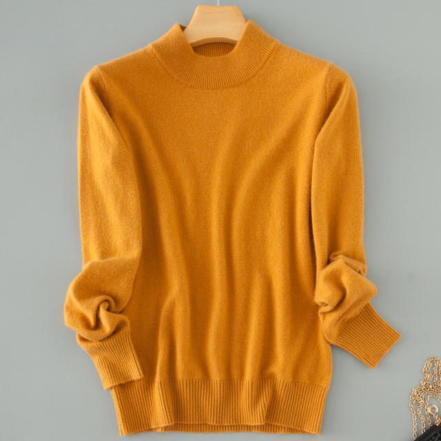 sweater short design thickening turtleneck slim basic shirt pullover sweater solid color sweater plus size