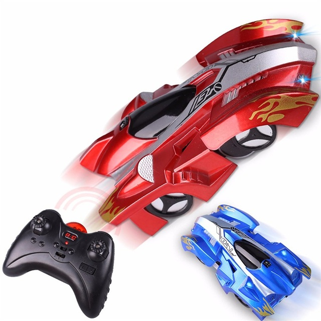 Wireless Wall Climbing Electric Remote Control Drift Flashing Race Car Toy for Children