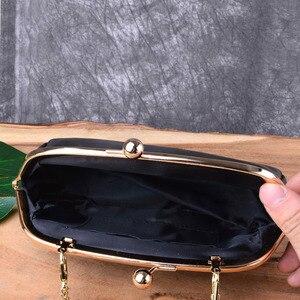 Image 5 - AETOO Clip pocket retro simple clip gold bag mini leather hand shoulder diagonal bag packet female