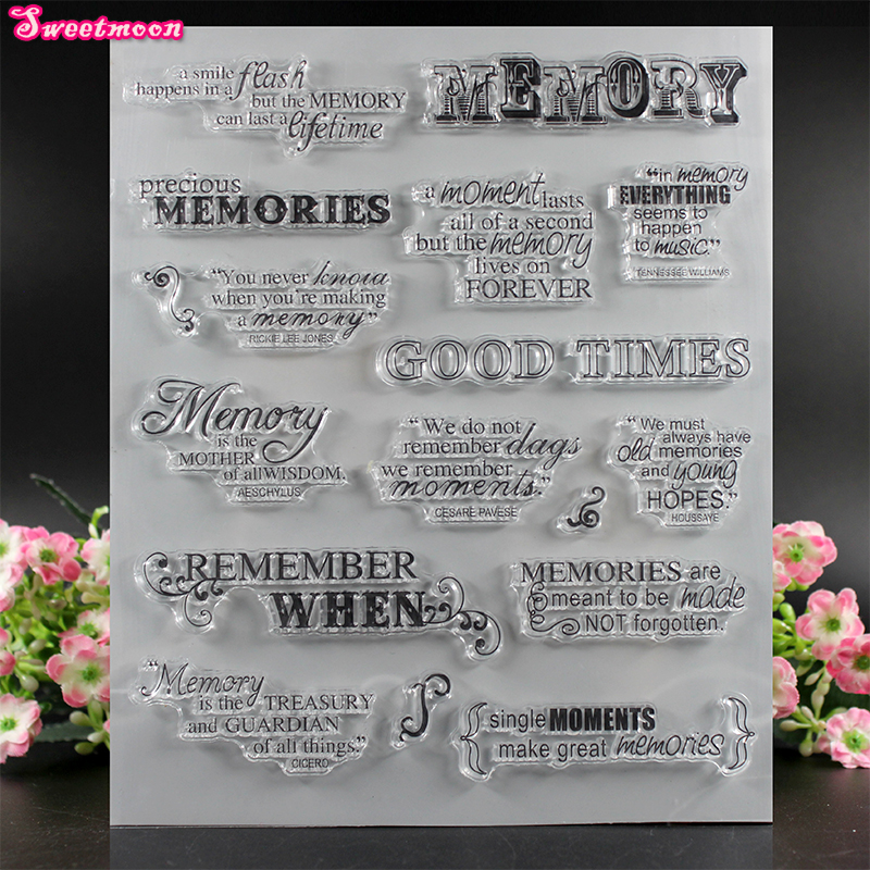 Memory good time Scrapbook Clear Stamp photo cards account rubber stamp  Embossing Folder card Stamp standard memory card in clear nintendo 64
