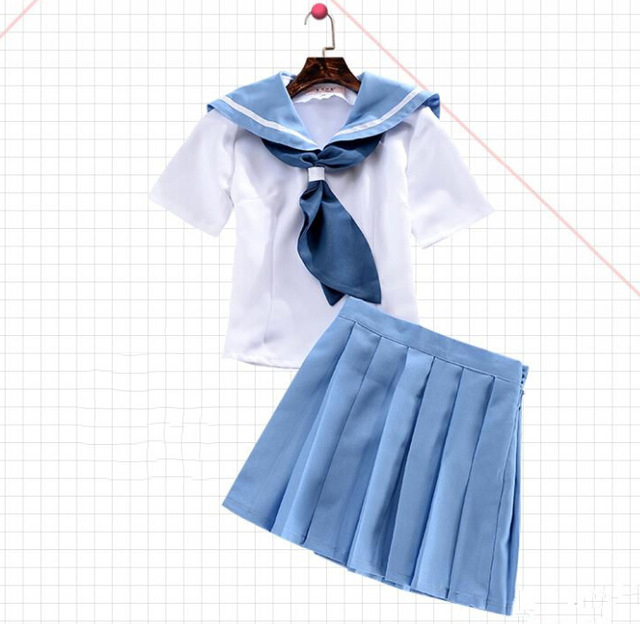 Anime-Kill-la-Kill-Mako-Mankanshoku-Cosplay-Costume-Cute-Slim-two-piece-Pleated-Dress-Full-Set.jpg_640x640