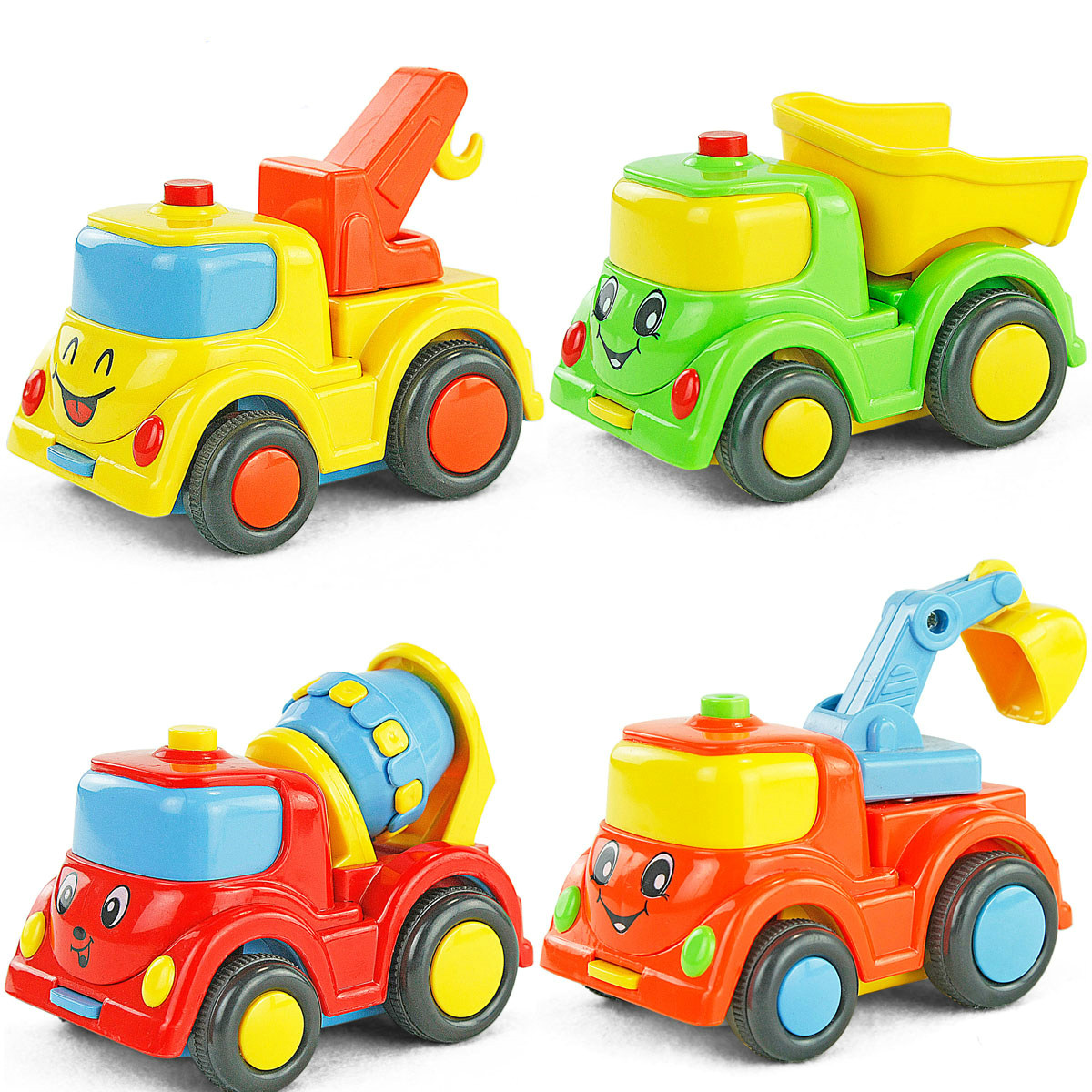 Baby Toy 4 Lot Inertial Smiling Face Car Baby 0 2 3 Year