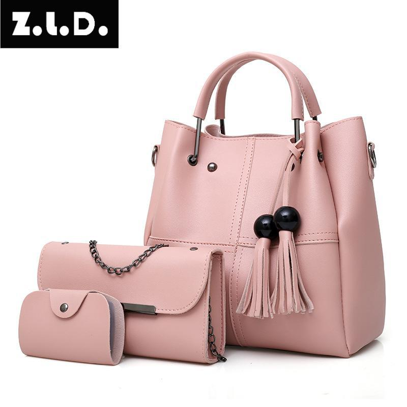 Z.L.D.n female Daughter bag three-piece shoulder bag womens large capacity Messenger bag Woman Hand Bag Femmes Messenger Sacs