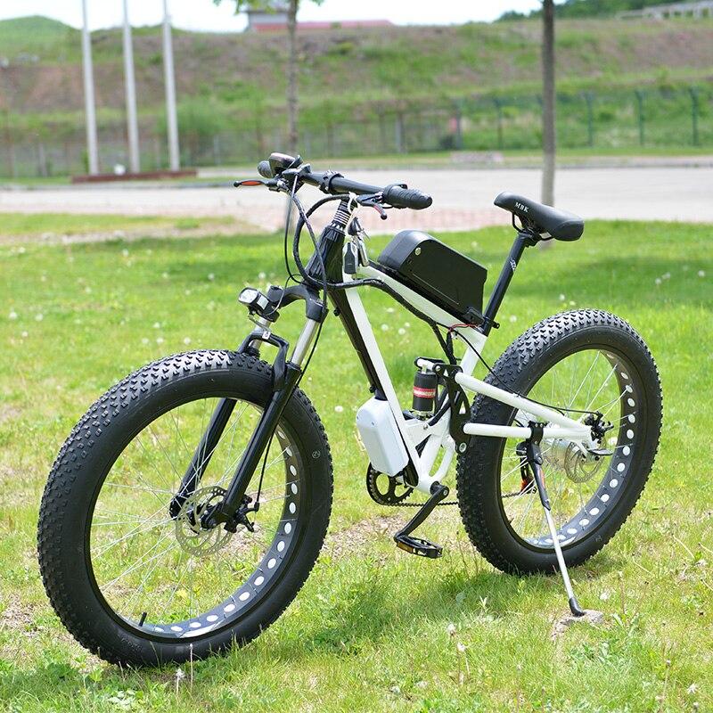19 pouce de Neige Électrique Vélo 7 Vitesse, 26*4.0 Graisse Neige Pneu Vélo, 48 V 15AH 500 W puissant Vélo Électrique, En Alliage D'aluminium Cadre Ebike