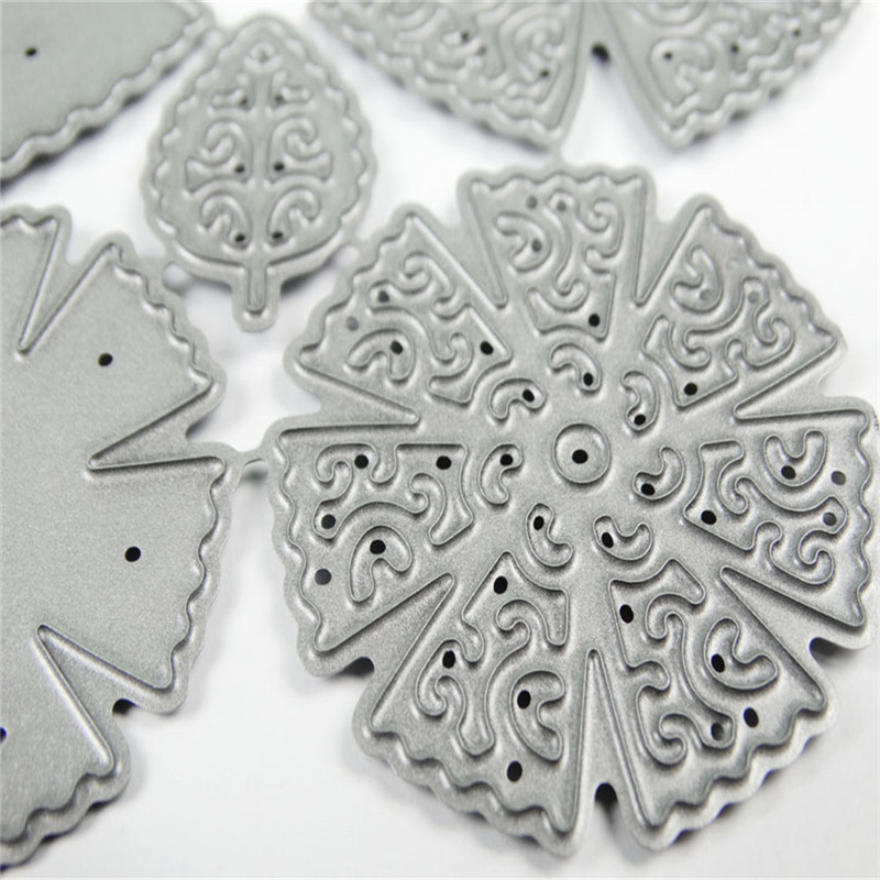 YaMinSanNiO Flower Dies Scrapbooking Metal Cutting New 2019 Lacy Craft Dies Embossing Die Cut Card Making Album Paper Embossing in Cutting Dies from Home Garden
