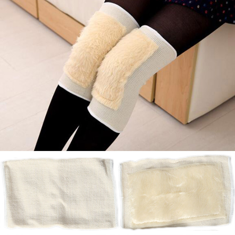 VEHEMO Breathable Artificial wool Knee Pads Leg Sleeve Calf Knee Support Brace Protector Warmers Kneepads Windproof For Riding